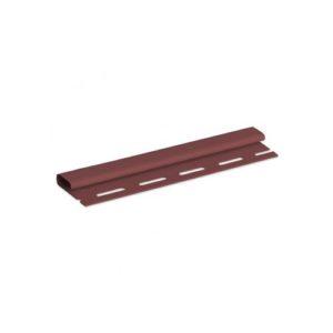 Планка финишная АЛЬТАПРОФИЛЬ красно-коричневая 3,66м