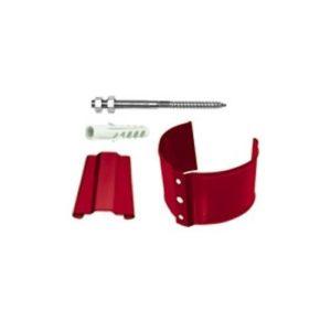 Кронштейн трубы (на кирпич) 90мм GRAND LINE PE красный