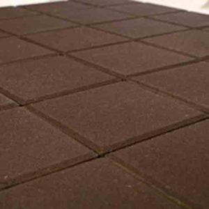 Плитка тротуарная Braer Лувр коричневый 200х200х60