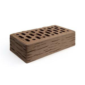 Кирпич одинарный лицевой пустотелый рифленый «Коричневый» М 150, 175