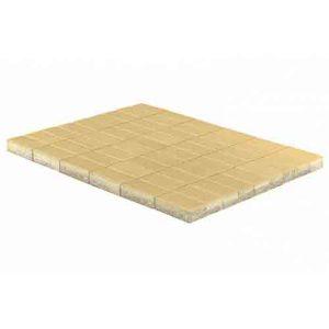 Плитка тротуарная Braer Прямоугольник песочный 200х100х40