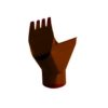 Воронка 125/90мм GRAND LINE PE коричневая