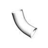 Колено стока 90мм GRAND LINE PE (9003) белое