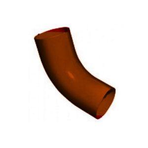 Колено 60,90мм GRAND LINE PE коричневое