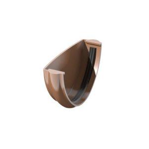 Заглушка желоба ТехноНиколь ПВХ, коричневый