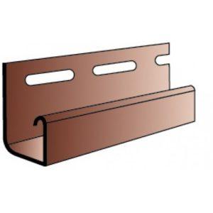 Профиль J-trim АЛЬТАПРОФИЛЬ (коричнев)3,66м Блок-хаус