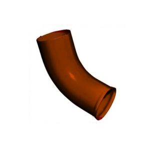 Колено стока 90мм GRAND LINE PE коричневое