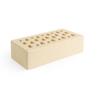 Кирпич одинарный лицевой пустотелый «Слоновая кость» М 150 с толщиной наружной стенки 20 мм