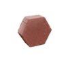 Плита тротуарная бетонная Ф14.6 Шестигранник красная