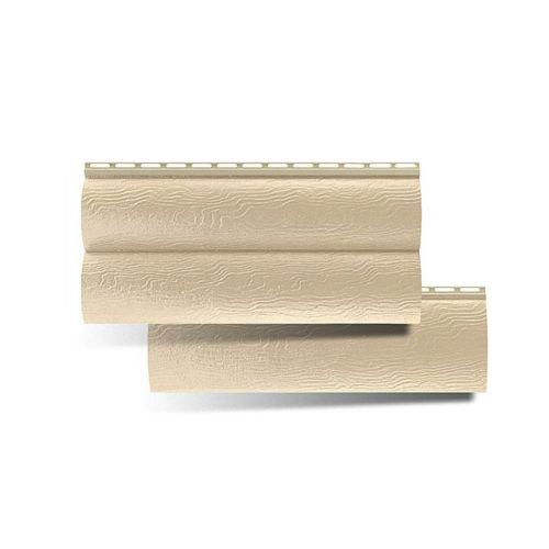 Сайдинг виниловый панель АЛЬТАПРОФИЛЬ Золотистая (блокхаус)