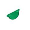Заглушка торцевая универсальная 125мм GRAND LINE Полиэстер 6005 зеленая