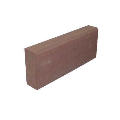 Камень бордюрный бетонный БР 500х200х80мм. красный