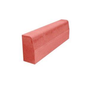Камень бордюрный бетонный БР 1000х200х80мм. красный