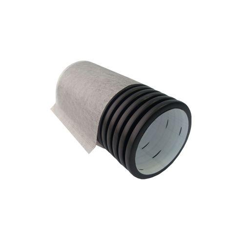 Труба дренажная ПНД с перфорацией в фильтре 90мм.