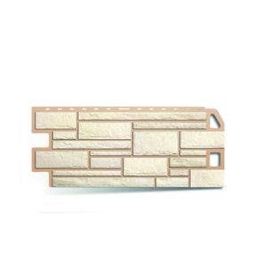 Сайдинг цокольный панель камень АЛЬТАПРОФИЛЬ (белый) 1,14х0,48м