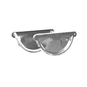 Заглушка желоба оцинкованная 125 мм.