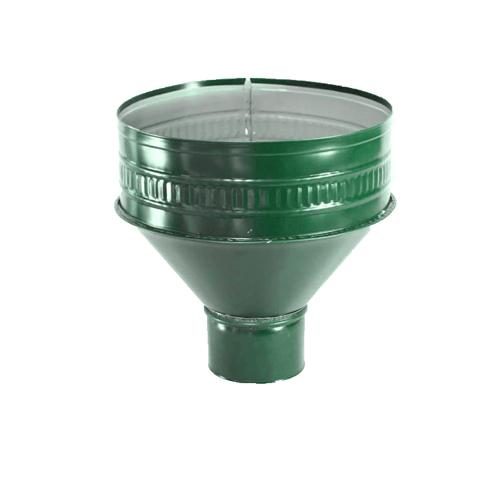 Воронка водосборная 100мм RAL 6005 зеленый
