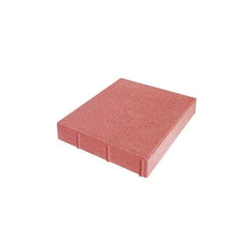 Плита тротуарная бетонная 6к7 Квадрат красный (50х50 см.)