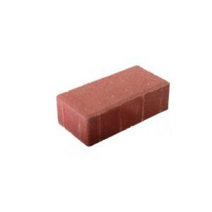 Плита тротуарная бетонная П6 Кирпич красная