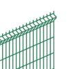 Сварная панель ограждения (50х50х4 мм.) 1730*2500 зеленая