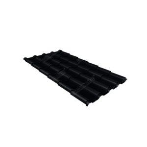 Металлочерепица камея 0,45 Drap RAL 9005 черный
