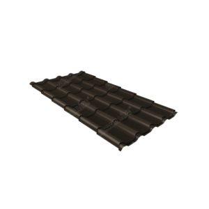 Металлочерепица камея 0,45 Drap RR 32 темно-коричневый
