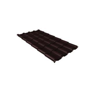 Металлочерепица камея GL 0,5 Polydexter Matt RAL 8017 шоколад