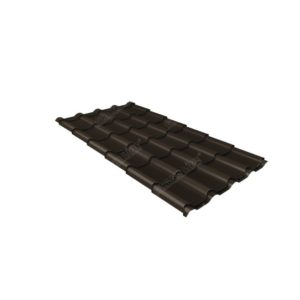 Металлочерепица камея GL 0,5 Polydexter Matt RR 32 темно-коричневый