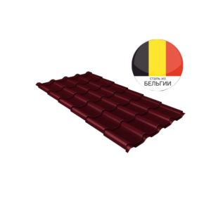 Металлочерепица камея GL 0,5 Quarzit RAL 3005 красное вино