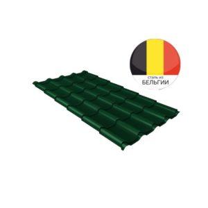 Металлочерепица камея GL 0,5 Quarzit RAL 6005 зеленый мох