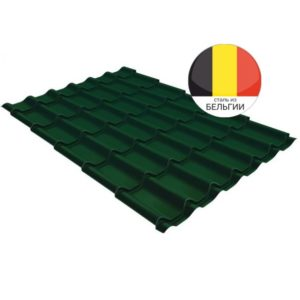 Металлочерепица классик GL 0,5 Atlas RAL 6005 зеленый мох