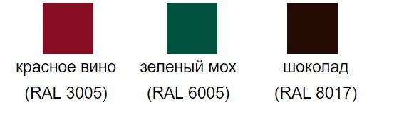 Цветовая палитра PE-double (Полиэстер-double) Grand Line металлочерепица