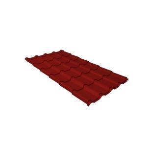 Металлочерепица камея 0,45 PE RAL 3011 коричнево-красный