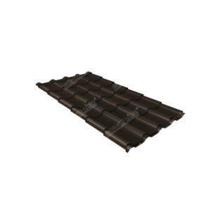 Металлочерепица камея 0,45 PE RR 32 темно-коричневый