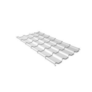 Металлочерепица камея 0,5 Satin RAL 9003 сигнальный белый