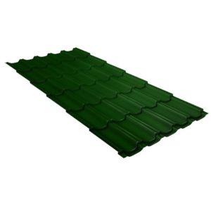 Металлочерепица квинта плюс 0,45 PE RAL 6002 лиственно-зеленый