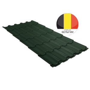 Металлочерепица квинта плюс GL 0,5 Velur20 RAL 6020 хромовая зелень