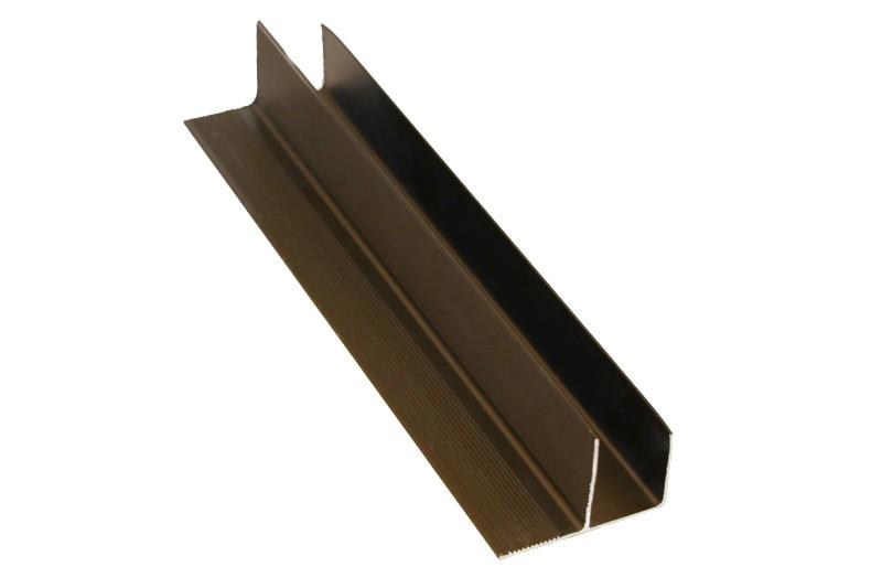 F-профиль 30х58,5мм анодированный бронза
