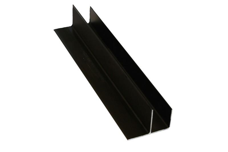 F-профиль 30х58,5мм анодированный черный