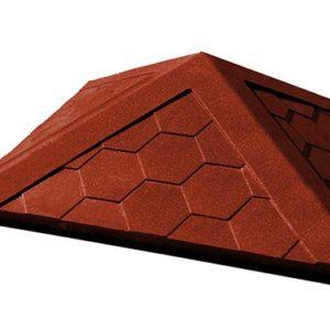 Колпак на заборный столб 1,5 кирпича Гибкая черепица, красный