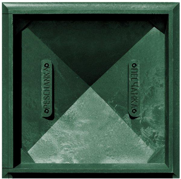 Колпак на заборный столб 1,5 кирпича Гибкая черепица, зеленый