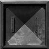 Колпак на заборный столб  1,5 кирпича Гибкая черепица, черный