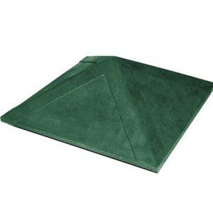 Колпак на заборный столб 1,5 кирпича Гладкий, зеленый