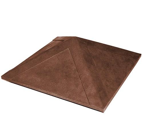 Колпак на заборный столб 1,5 кирпича Гладкий, коричневый