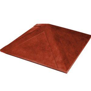 Колпак на заборный столб 1,5 кирпича Гладкий, красный