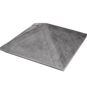 Колпак на заборный столб 1,5 кирпича Гладкий, серый