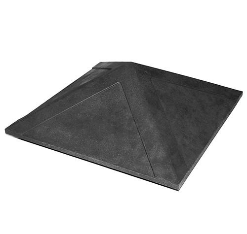 Колпак на заборный столб 1,5 кирпича Гладкий, черный