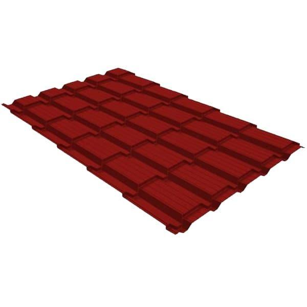 Металлочерепица квадро 0,4 PE RAL 3011 коричнево-красный