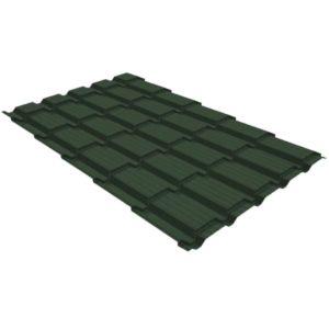 Металлочерепица квадро 0,45 Drap RAL 6020 хромовая зелень