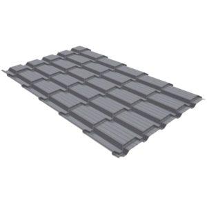 Металлочерепица квадро 0,45 PE RAL 7004 сигнальный серый